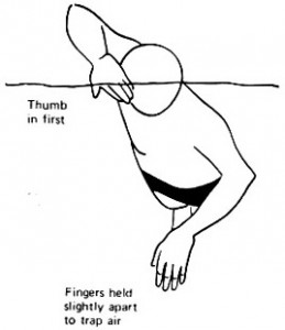 Two left hands? Poor body alignment. Fingers trapping AIR?? Bad Stuff.